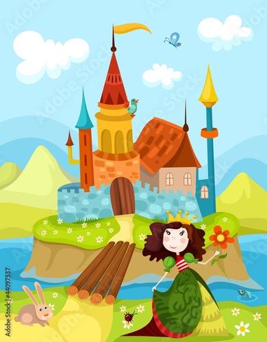 Poster Castle castle and princess