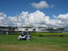 Aircraft Carrier And The Cannon