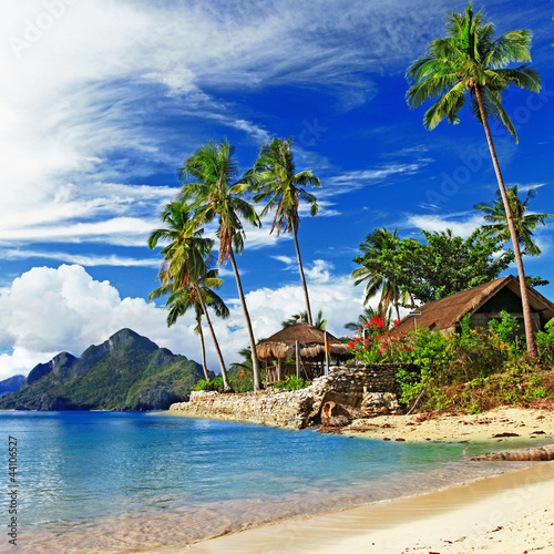 Foto-Leinwand - tropical scenery