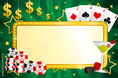 Gambling background плакат