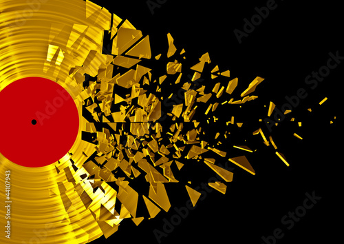 Etiqueta engomada - Vinyl shatter gold
