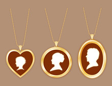 Cameo Family, Vintage Gold Loc...
