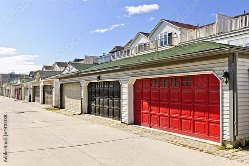 Fotografie, Obraz Row of parking garages