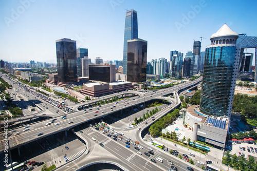 Poster Pekin landscape of modern city ,beijing