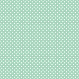 Polka dots on fresh mint background seamless vector pattern - 44118397
