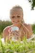 canvas print picture Junge Frau trinkt Kaffee