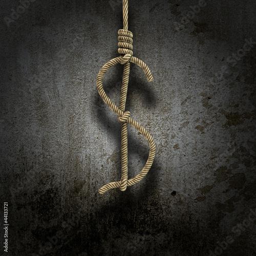 Fotografie, Obraz  Hangman's knot shaped like a dollar sign