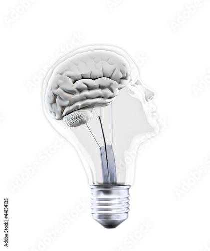 Fototapeta Head shaped bulb obraz na płótnie