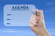 Leinwandbild Motiv Agenda aufscheiben