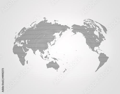Foto op Canvas Wereldkaart 世界地図