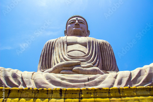 Giant Buddha in Bodhgaya, Bihar, India.  IMAGES, GIF, ANIMATED GIF, WALLPAPER, STICKER FOR WHATSAPP & FACEBOOK