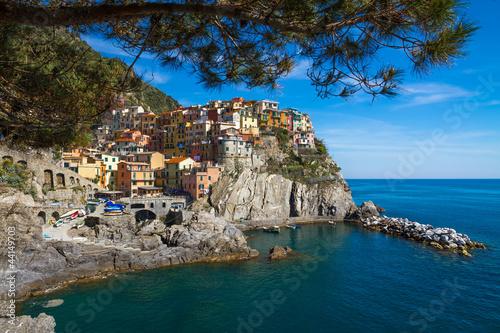 Foto op Plexiglas Toscane Village of Manarola, Cinque Terre, Italy