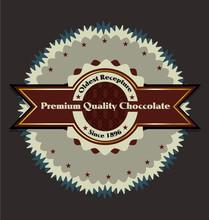 Premium Choccolate Product Vector Label