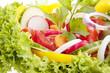 frischer gesunder Salat mit gemischtem Gemüse