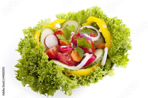 Foto op Aluminium Vruchten frischer gesunder Salat mit gemischtem Gemüse