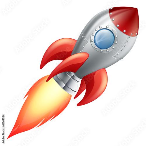 Fotografie, Obraz  Cartoon rocket space ship