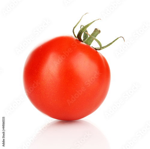 Ripe red tomato isolated on white
