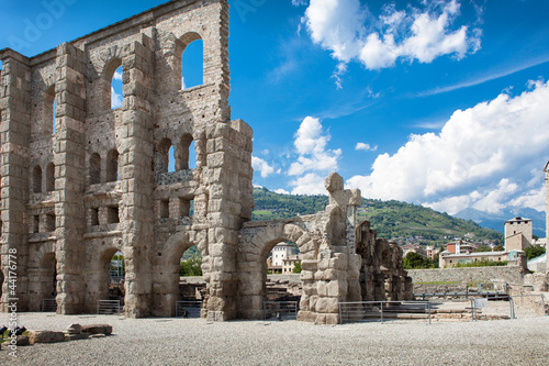 Ancient Theater in Aosta - Italy Wallpaper Mural