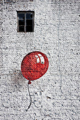Fototapeta Abstrakcja red baloon 4