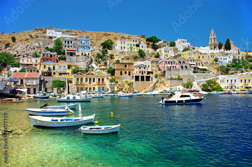 Photo Stands Europa travel in Greek islands series - Symi, Dodecanes