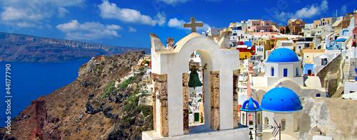 Fototapeta beautiful Santorini panoramic view of Oia town obraz