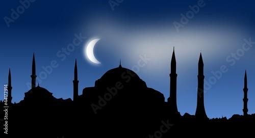 Fényképezés  Silhouette - Hagia Sophia, Istanbul