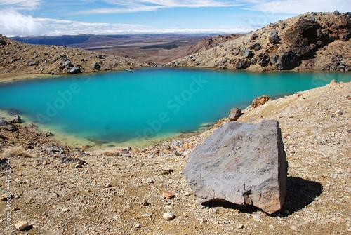Photo  Emerald lakes, Tongariro national park, New Zealand