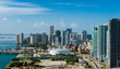 canvas print picture - Aerial view of Downtown Miami