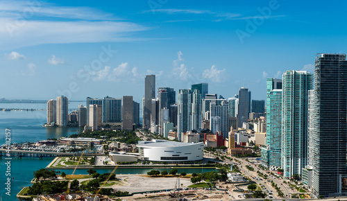 Fotografie, Tablou  Aerial view of Downtown Miami