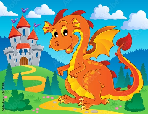 Poster Castle Dragon theme image 9