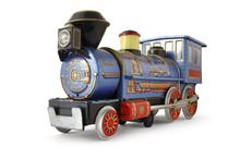 Toy Train Blue