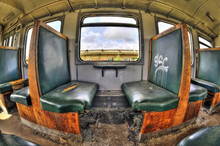 Old Vandalized Railcar Compart...