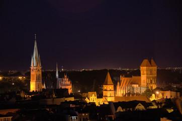 Fototapeta Toruń nocą