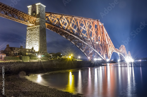 Canvas Prints Bridge Night over the Forth Road Bridge