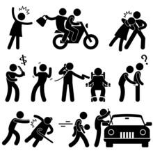 Criminal Robber Burglar Kidnapper Rapist Thief Icon Pictogram