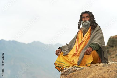 Obraz na płótnie Indian monk sadhu