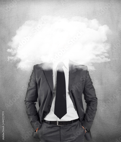 Fotografie, Obraz  Businessman - head in the clouds