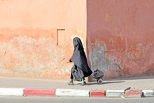 Muslim Woman Walking Down The ...