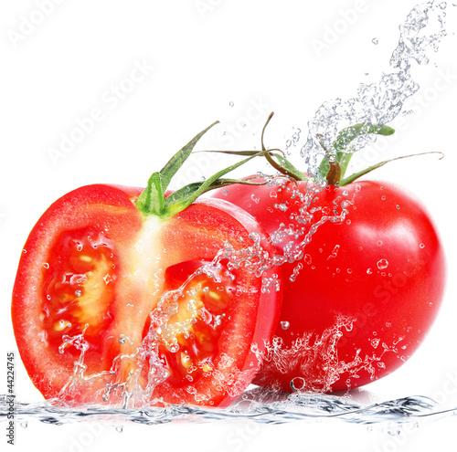 Poster Eclaboussures d eau pomodoro tagliato splash