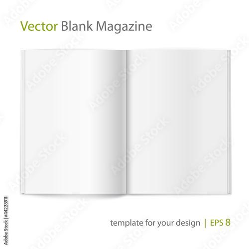 Photographie  Vecteur vide magazine propagation sur fond blanc