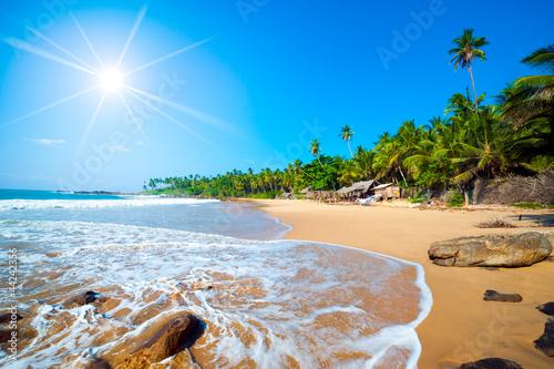 Foto-Schiebegardine Komplettsystem - Tropical beach