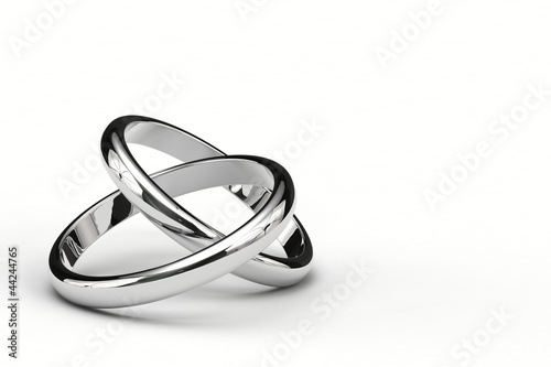 Fotografie, Obraz  重なり合う結婚指輪