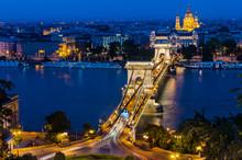 Szechenyi Chain Bridge And Danube River, Budapest