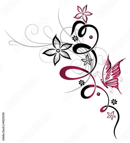 tendril-flora-kwiat-kwiat-motyl-rozowy