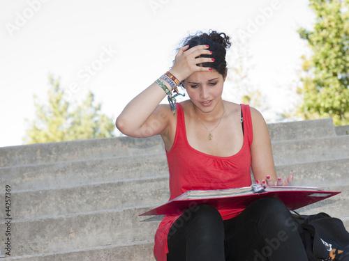 Foto  Der Stress der Prüfungen
