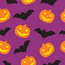 Halloween Seamless Pattern Bac...