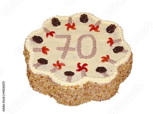 Torte Zum 70 Geburtstag Freigestellt Buy This Stock Photo And