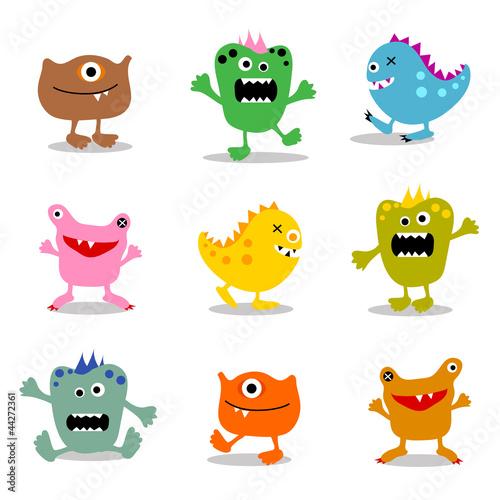 set of cute little monsters 2
