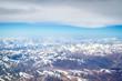 Berge des Himalaya, Luftaufnahme