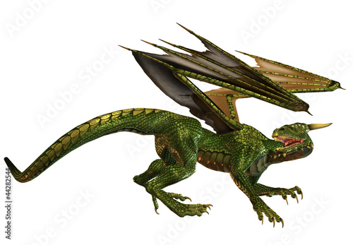 La pose en embrasure Dragons Fantasy Dragon
